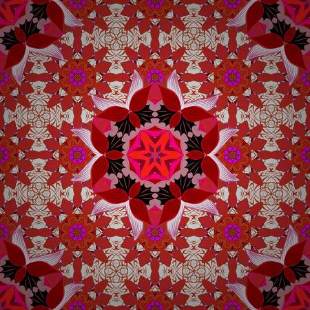 Colorful elements. Radial gradient shape. Mandalas background. Raster illustration texture.
