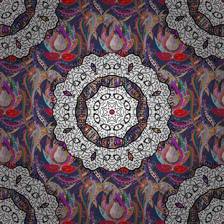 Mandalas background. Colorful elements. Vector illustration texture.