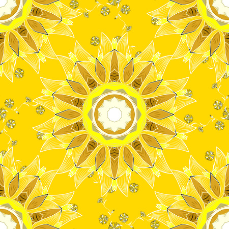 Mandalas background. Vector illustration texture. Colorful elements.