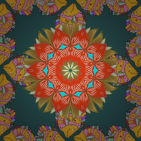 Mandalas background. Colorful elements. raster illustration texture.