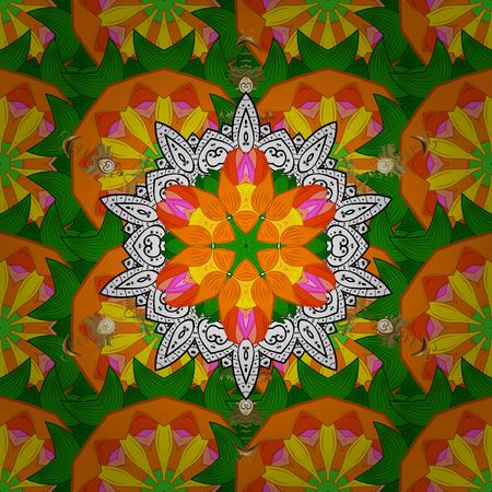 East, Islam. Mandala colored background. Arabic Vintage decorative ornament. Vector Mandala pattern on background.