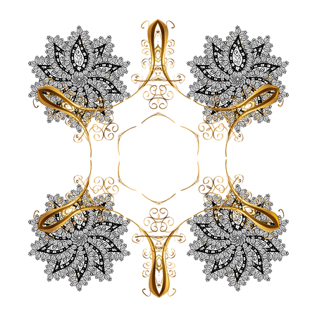 Abstract snowflakes design. Background. Snowflakes with watercolor effect. Textile print for bed linen, jacket, package design, fabric and fashion concepts. Stock Photo