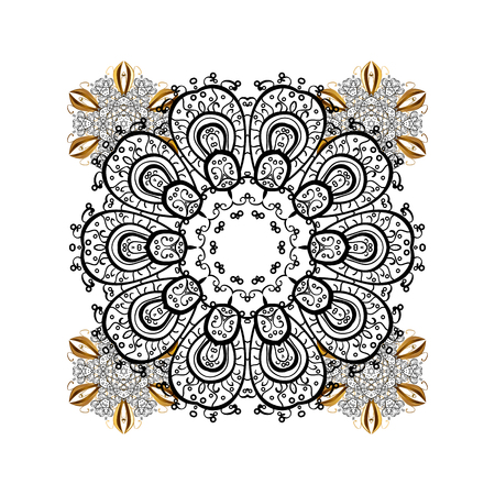 parer: Can be used for textile, parer, scrapbooking, wrapping, web and print design. Vector Winter on a white Background with white and light Snowflakes and dots.