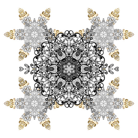 Textile print for bed linen, jacket, package design, fabric and fashion concepts. Snowflakes with watercolor effect. Vector background. Abstract snowflakes design. Illustration