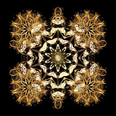 quadratic: Snowflake vector design on black background. Snow flakes background.