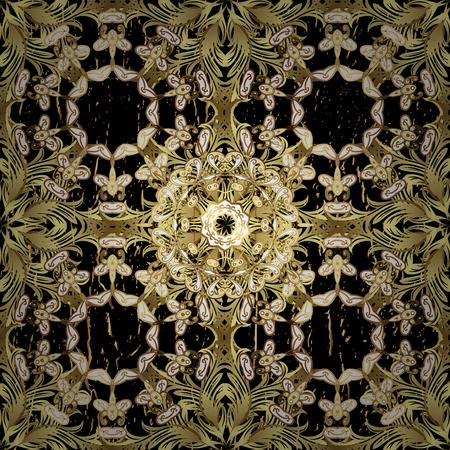 attern: ?attern on black background with golden elements. Golden textured curls. Golden pattern. Oriental style arabesques.
