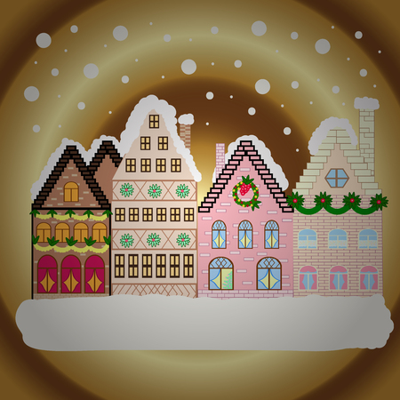 Christmas and Happy New Year greeting card. Stock Photo