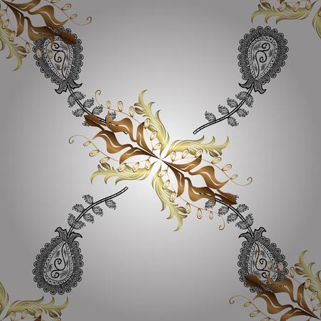 Graphic modern pattern. Sketch baroque, damask. Pattern floral pattern. Vector background. Illustration