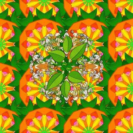 Background. Colored mandalas element. Vector illustration. Illustration