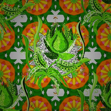 kundalini: Vector ethnic mandalas, doodle background circles. Background.
