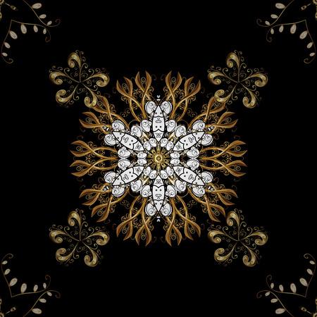 drapes: Seamless pattern oriental ornament. Vector golden textile print. Islamic design. Floral tiles. Golden pattern on black background with golden elements.