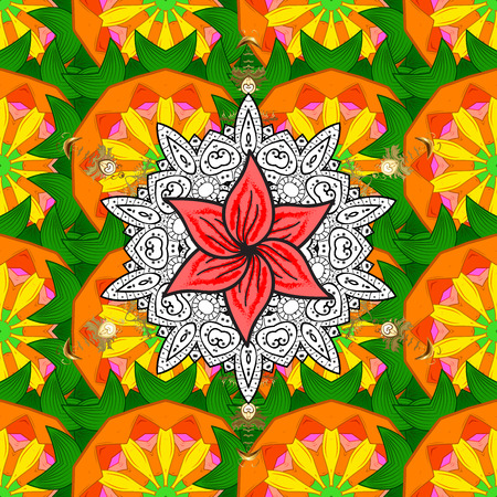 thai motifs: Mandala colored on background. East, Islam, Thai, Indian, ottoman motifs. Abstract Tribal, ethnic texture. Orient, symmetry lace, meditation symbol. Mandala pattern. Arabic Vintage decorative ornament