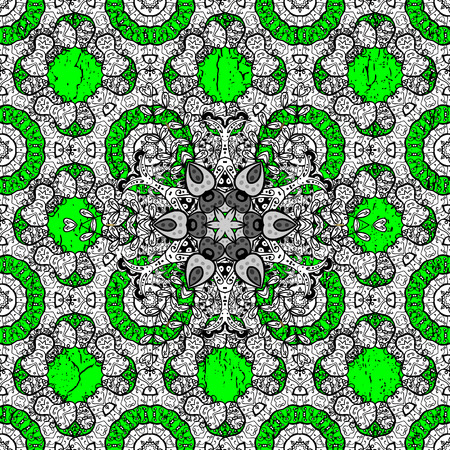 attern: ?attern on green and white background with white elements. Vector. White texture curls. Openwork delicate pattern. Oriental style arabesques. Brilliant lace, stylized flowers, paisley.