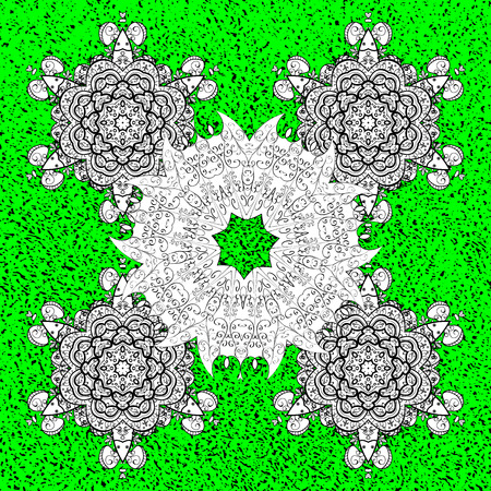 Traditional orient ornament. Classic vintage background. Classic vector green and white and white pattern. Illustration