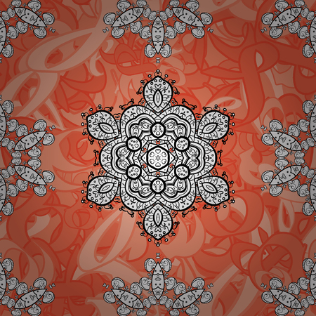 Beautiful pattern with abstract flowers. Spotted Vector illustration. Background. Background.