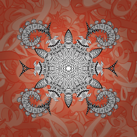 Oriental vector classic and white pattern. Seamless abstract background. Vector illustration.