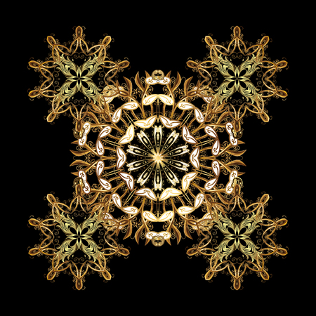 sacramental: Snowflake isolated ornament. Flat design of snowflakes isolated on black background. Snowflakes ornament. Vector snowflakes background.