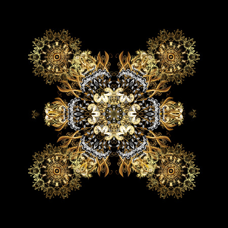 Vintage on a background with golden elements. Vector illustration. Illustration