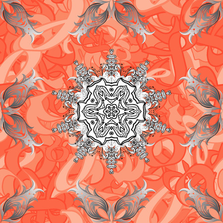 autumn colouring: Vector illustration. Vintage seamless pattern with gray elements. Christmas 2018, snowflake, new year.