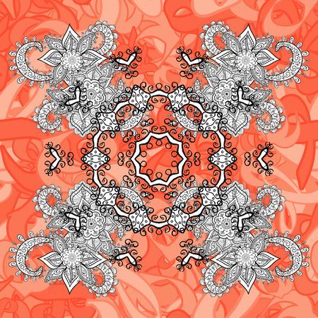 Vector illustration. Flat hand drawn vintage collection. Vector gray seamless pattern. Backdrop, fabric, gray sketch. Vintage pattern with gray elements. Illustration
