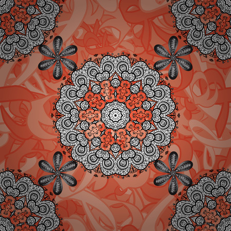 autumn colouring: Seamless gray pattern. Gray pattern with gray elements. Vector illustration. Vector oriental ornament. Doodles sketch pattern.