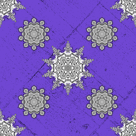 diversified: Ornate vector decoration. Rough damask pattern background for sketch design in the style of Baroque. Gray pattern with gray elements. Vector illustration.