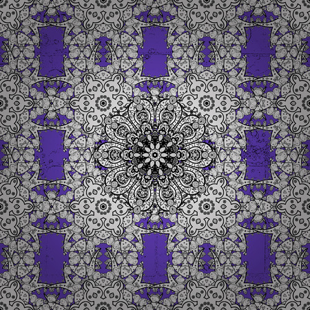 Classic vintage background. Classic vector violet and white pattern. Traditional orient ornament. Illustration