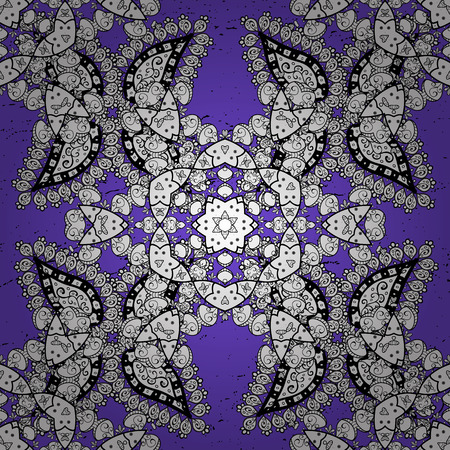 Element woodcarving. Luxury furniture. Furniture in classic style. Carving. Pattern on violet background with white elements. Violet tree with blue trim. Patina. Small depth of field.