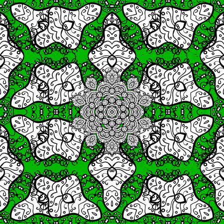 scabrous: Classic vector green and white pattern. Traditional orient ornament. Classic vintage background.