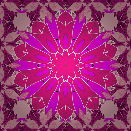 Vector colored design abstract mandala sacred geometry illustration on a colorful background.