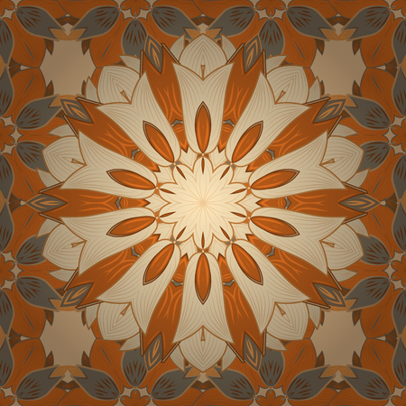 admirable: Intricate colored Arabesque with on a colorful background. Vector abstract stylized colored mandala.
