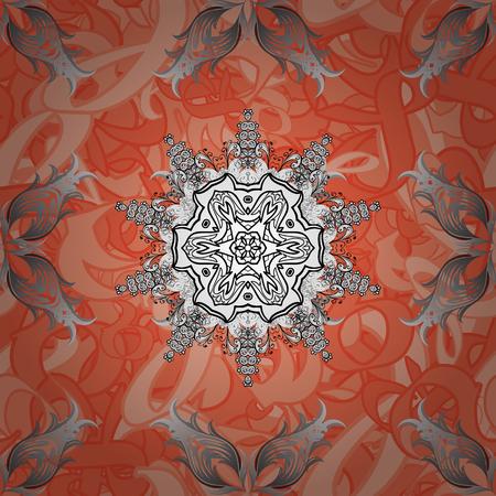 Grayen elements. Floral pattern. Stylish graphic pattern. Vector illustration. Seamless vector background. Sketch baroque, damask.