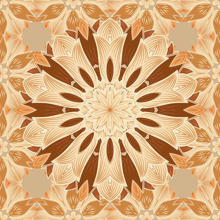 Yoga logo, background for meditation poster. Indian flower mandala. Decorative colored round ornament. Colorful mandala. Oriental flourish vector. Anti-stress mandala. Illustration
