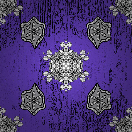 Gray with floral pattern. Rough pattern. Vector illustration. Doodles sketch. Vector gray floral ornament brocade textile and glass pattern. Illustration