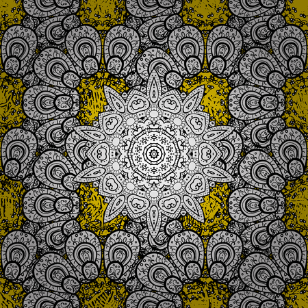 bleak: Oriental vector classic yellow and golden pattern. Abstract background. Illustration