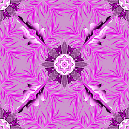 Vector abstract flower background. Pretty floral print with small flowers. Motley seamless pattern. Illustration