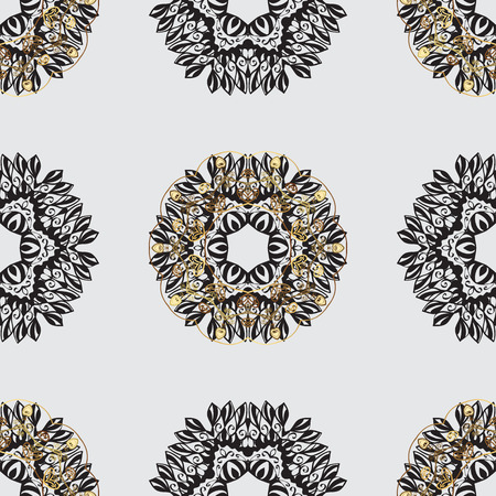 florid: Traditional orient ornament, classic vintage background.