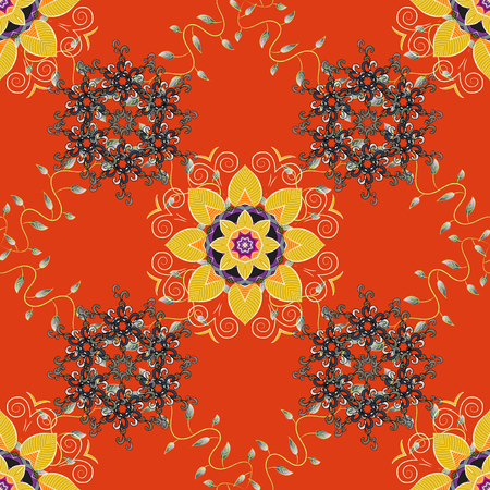 rug texture: Endless vector texture for romantic design, decoration, greeting cards, posters, wrapping, for textile print and fabric. Floral seamless pattern with bright summer flowers in colors.