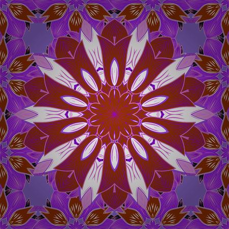 varied: Vintage vector floral seamless pattern in colors. Illustration