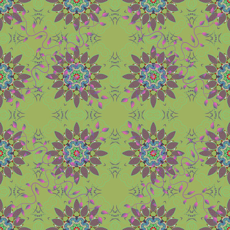 Seamless pattern with floral motif. Seamless floral pattern with flowers, watercolor. Vector flower illustration. Illustration