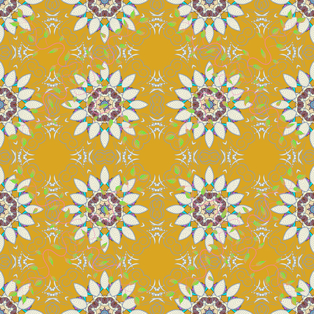 Floral seamless pattern with watercolor effect. Textile print for bed linen, jacket, package design, fabric and fashion concepts. Abstract vector seamless pattern flower design in colors.
