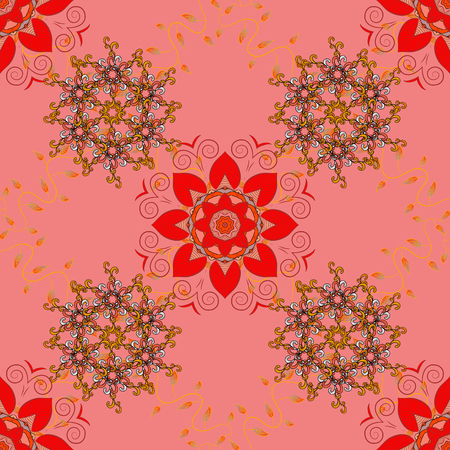Motley seamless pattern. Vector abstract flower background. Pretty floral print with small flowers. Illustration
