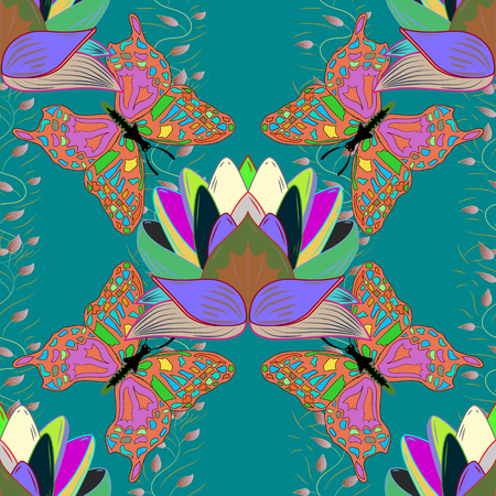 modish: Motley illustration. Spring floral background with pink flowers. Vector cute pattern in small flower. Small colorful flowers. The elegant the template for fashion prints.
