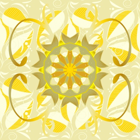 Vector abstract floral background. Seamless pattern with many small flowers. Seamless floral pattern. Illustration