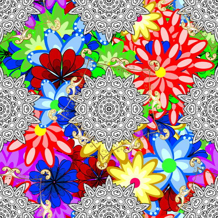 Motley illustration. Spring floral background with flowers. Vector cute pattern in small flower. Small colorful flowers. The elegant the template for fashion prints.