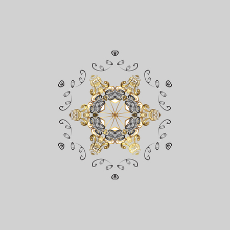 parer: Can be used for textile, parer, scrapbooking, wrapping, web and print design. Vector Winter on a gray Background with Snowflakes and dots.