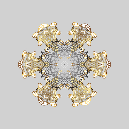 diversified: Watercolor painting effect. Handmade drawing. Snowflakes, doodles and dots in colors on gray background. For the Christmas design and decoration.