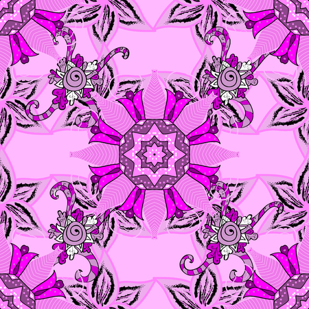 festal: Vector hand-drawn mandala, colored abstract pattern on a background.