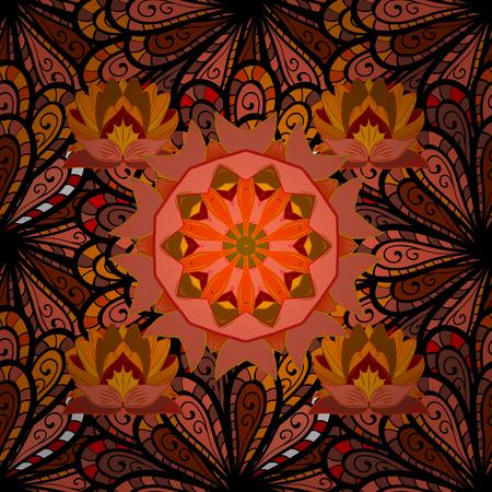 modish: Abstract Mandala. Islam, Arabic, Indian, turkish, pakistan, chinese, ottoman motifs. Vintage decorative elements.