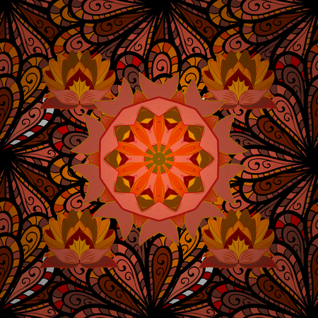 Abstract Mandala. Islam, Arabic, Indian, turkish, pakistan, chinese, ottoman motifs. Vintage decorative elements.